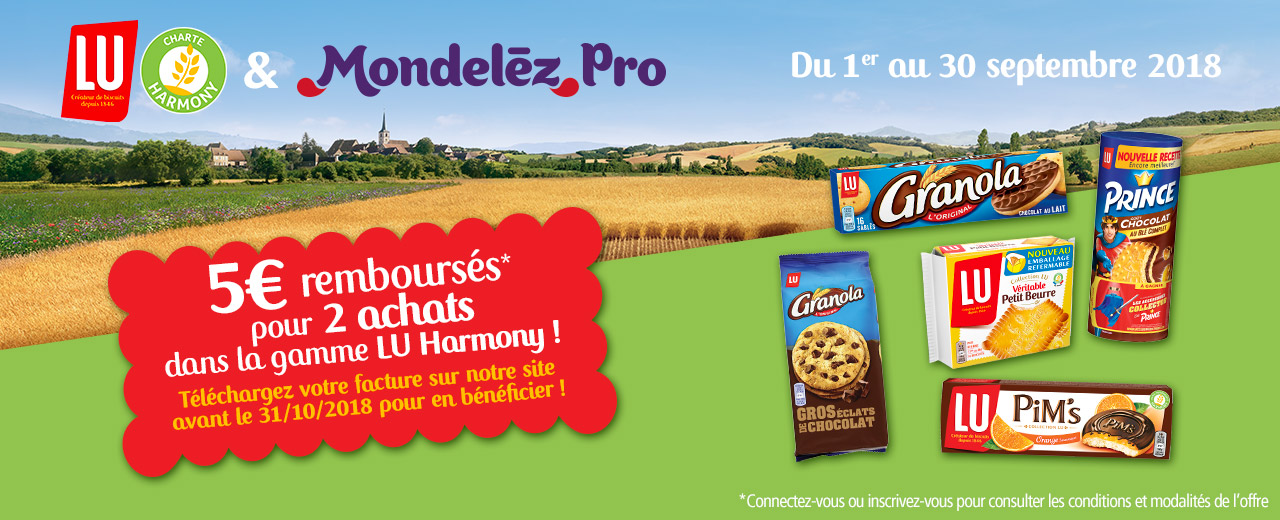 Promotions - biscuits - gâteaux - LU - Harmony - mondelez - pro