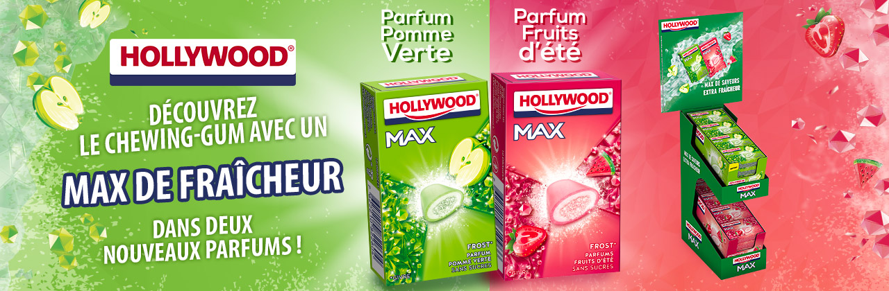 Actualité - chewing - gum - Hollywood - Max - Frost - innovation - pomme - fruits été