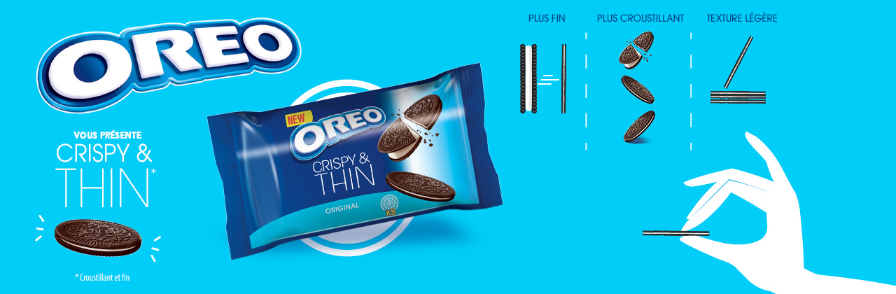Actualité - biscuit - OREO - crispy - thin - pocket