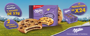 Actualité - biscuits - gateaux - Milka - cookie - sensation - chocolat