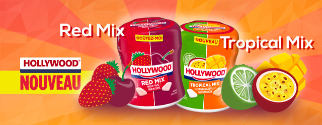 Actualité - chewing - gum - Hollywood - Bottle - Tropical - Mix - innovation - mangue - cumbava
