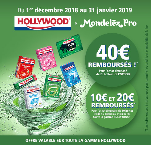 Promotions - chewing - gum - Hollywood - mondelez - pro