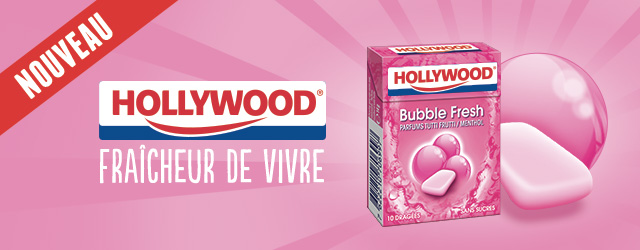 Promotions - Chewing gum - Hollywood - bubble - fresh